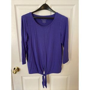 Chico's by Chico's Purple Front Tie Longsleeve T